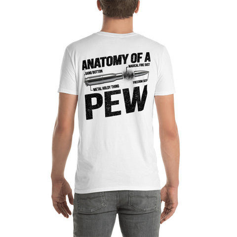 Bullet Diagram Anatomy Of A Pew Bang Button Magical Fire Dust Unisex T-Shirt