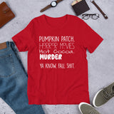Pumpkin Patch Horror Movie Hot Cocoa Unisex T-Shirt