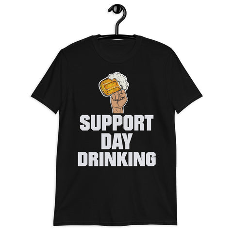 Beer Mug Fist Hand Support Day Drinking Unisex T-Shirt