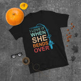 Bent Rod Fishing Pole I Love It When She Bends Over Unisex T-Shirt