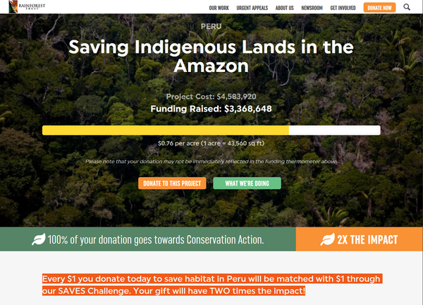 Rainforest Trust International - Saving Indigenous Lands in the Amazon