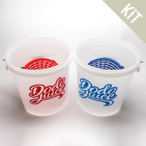 Twin Twenties Bucket kit - twin 20 litre bucket kit with dirt filters and wash/rinse stickers