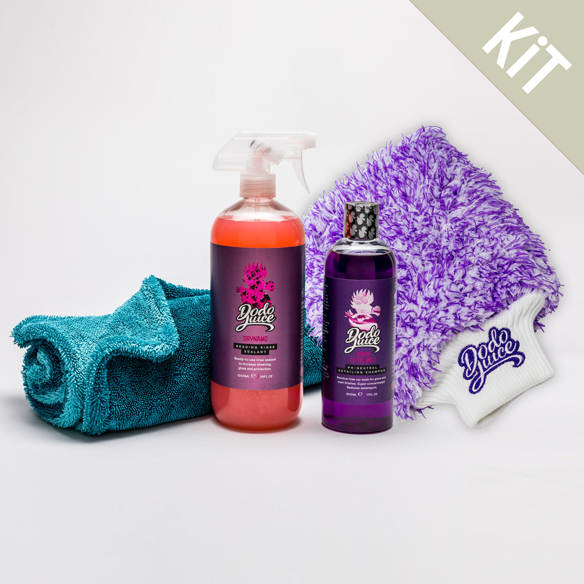 Wash Boss kit - shampoo, mitt and towel wash stage bundle (4 items) - up to £8 saving