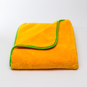 Orange Plush - double-sided plush microfibre drying towel 60x60cm 1000gsm