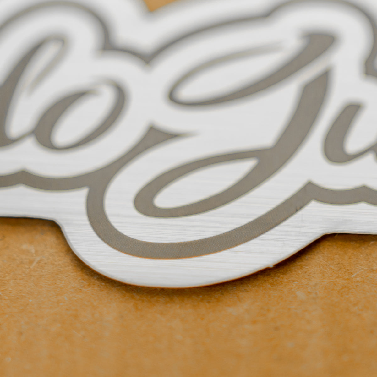 Dodo Juice REFRESH straight logo - brushed metal look
