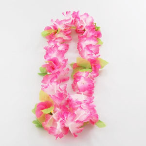 Garland/Lei mirror hanger - pink and white with flowers - medium size
