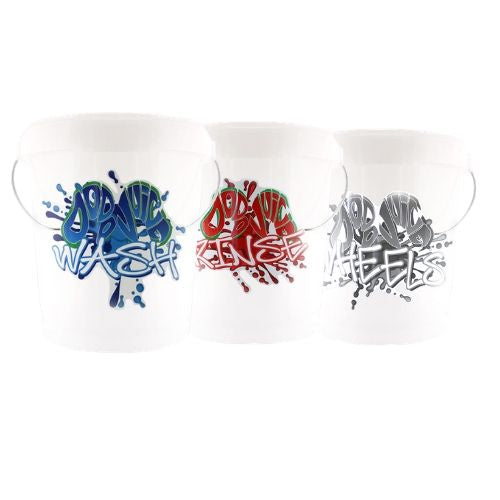 Triple Bucket Kit - 3 x buckets & stickers, with/without bucket filters