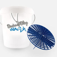 Wash Bucket Kit - standard or ultra-durable bucket, lid & sticker, with/without bucket filter