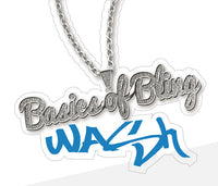 Basics of Bling Wash Bucket Vinyl Sticker - wash bucket vinyl sticker