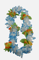Garland/Lei mirror hanger - colour/white with leaves/flower - large size (6 colourways available)