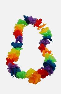 Garland/Lei mirror hanger - rainbow - medium size
