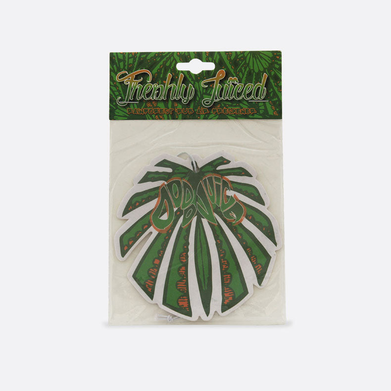 Rainforest Rub 'leaf' card air freshener - watermelon/Rainforest Rub fragrance mirror-hanger