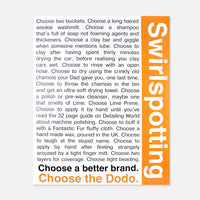 Swirlspotting Dodo Juice detailing poster - A2 size OFFER