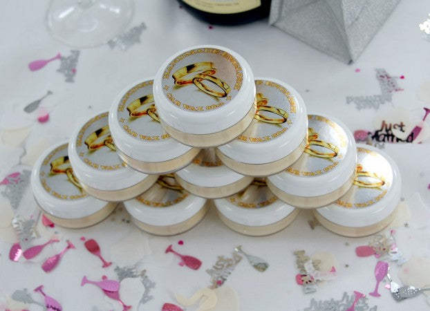 Hand Made English Car Wax Wedding Favours - original and Pimp My Bride versions - 10x pack