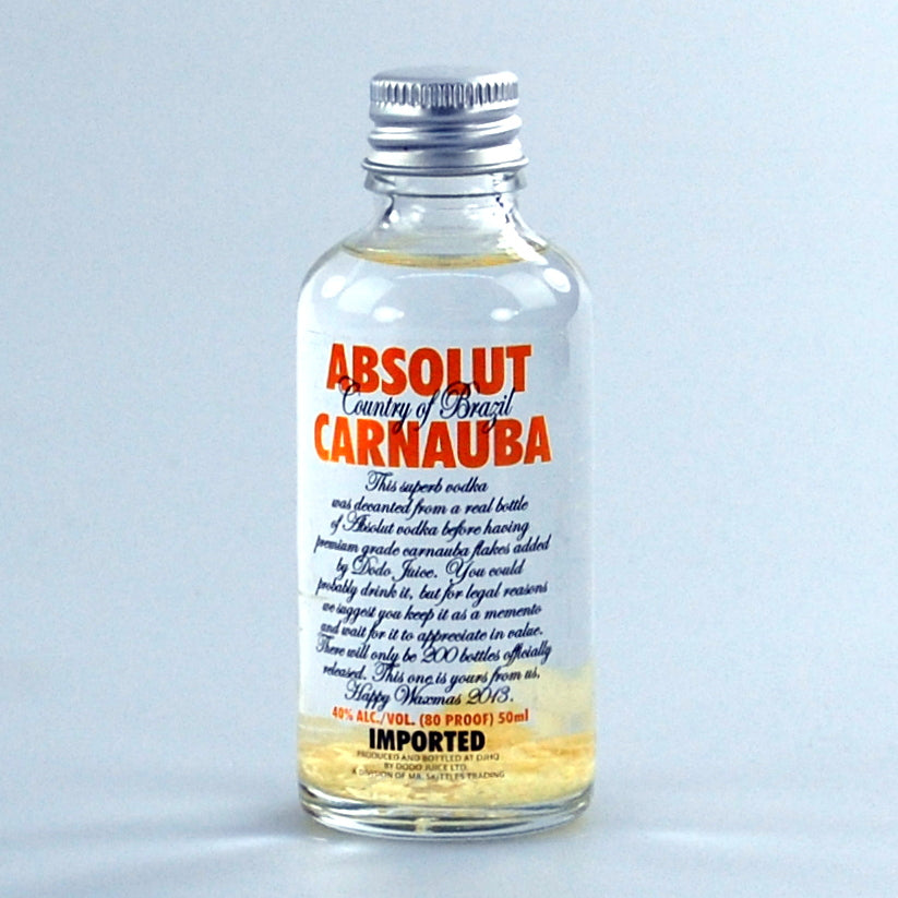 Absolut Carnauba Vodka Miniature 50ml - 2013 official Waxmas gift