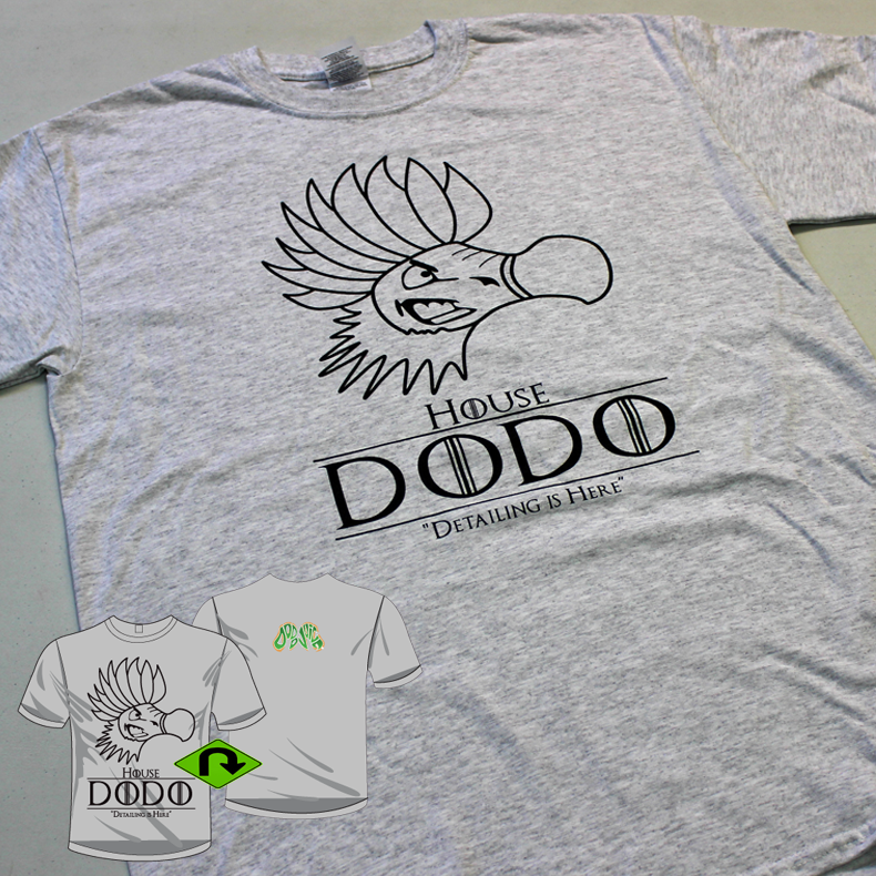 House Dodo T-Shirt - marble grey