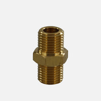 "Snow Foam Lance Brass Interconnect - fits between snow foam lance and connector (G1/4"" male to G1/4"" male fitting)"