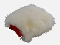 Red Cuffed Yeti - long hair sheepskin wash mitt CLEARANCE
