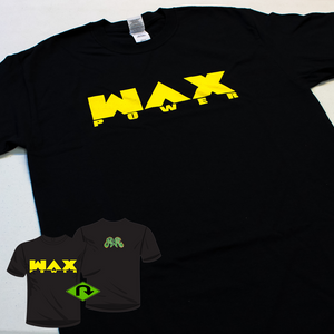 WAX POWER T-Shirt - black with yellow print