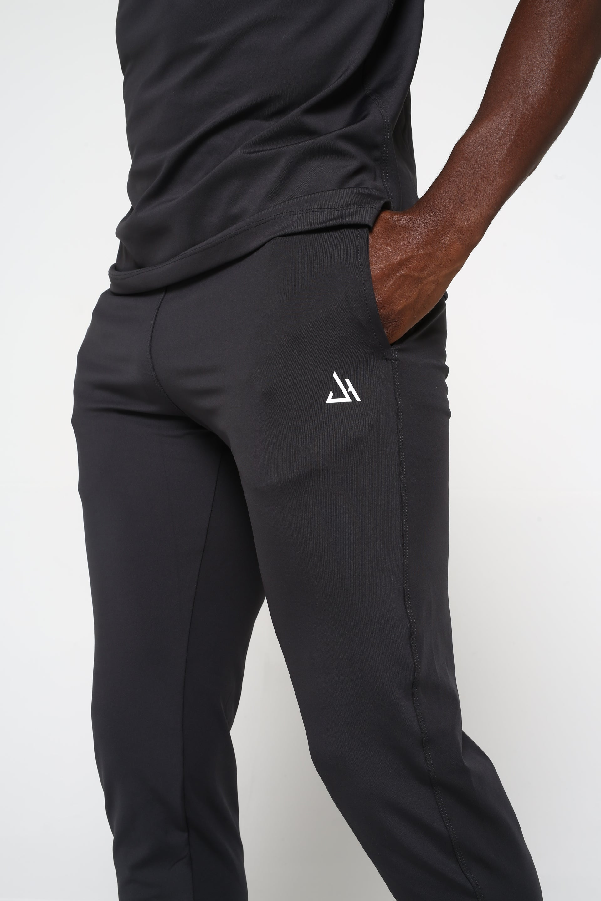 Charcoal Tapered Bottom Joggers