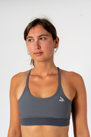 Grey Synergy Sports Bra