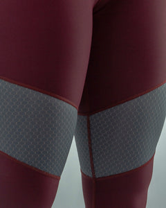 Burgundy Synergy High Waist Leggings