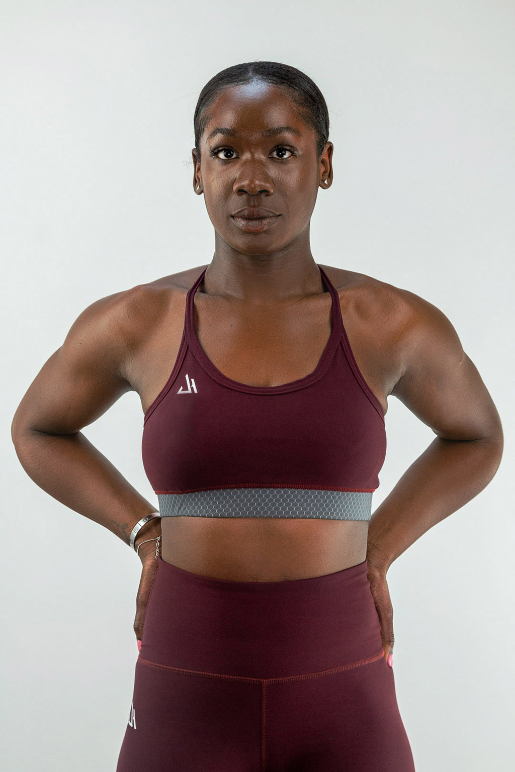 Burgundy Synergy Sports Bra
