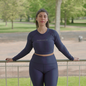 Flex Navy High Waist Leggings