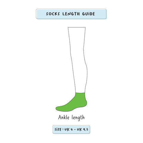 Low cut ankle length size chart | Thela Gaadi