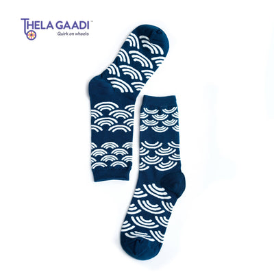 Blue Waves Socks-Thela Gaadi (1494285090864)
