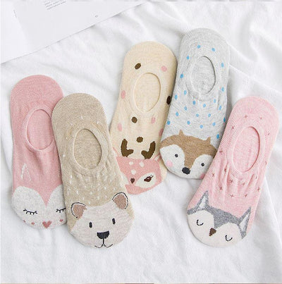 Snow Animal Socks Set (Set of 5) - Thela Gaadi