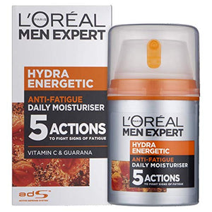 L'Oreal Men Expert Hydra Energetic, Anti-Fatigue Moisturiser with Vitamin C 50ml