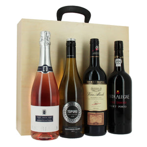 4 Bottle Wine Gift Case - MoFe Hampers