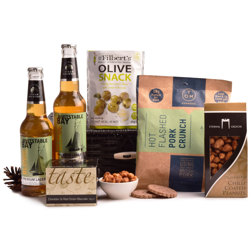 Whitstable Blond Beer and Snacks - MoFe Hampers