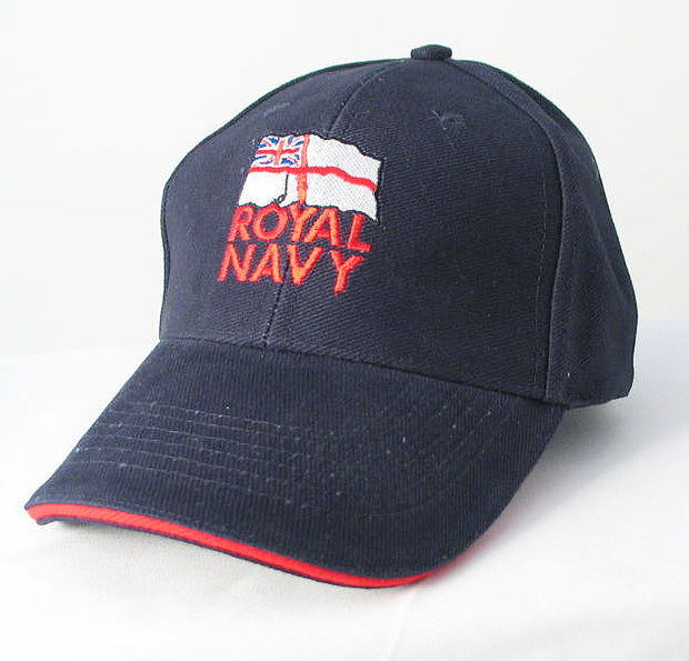 Royal Navy RN Ensign Embroidered Baseball Cap