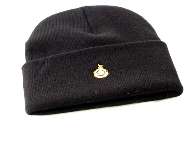 Royal Marines Knitted Beanie Hat with Embroidered Micro-Crest