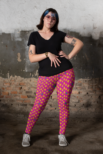 Lorelei Leggings in Azalea Daze - Plus Size