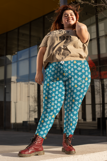 Lorelei Leggings in Blue Mist - Plus Size
