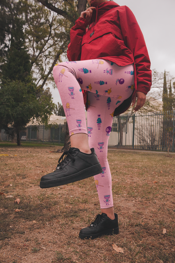 Tsukumogami Leggings in Cotton Candy