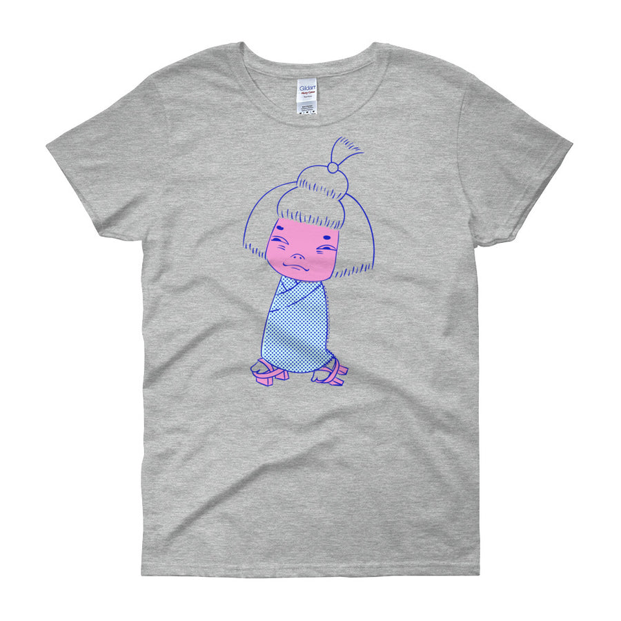 Zashiki Warashi Women's T-Shirt in Grey