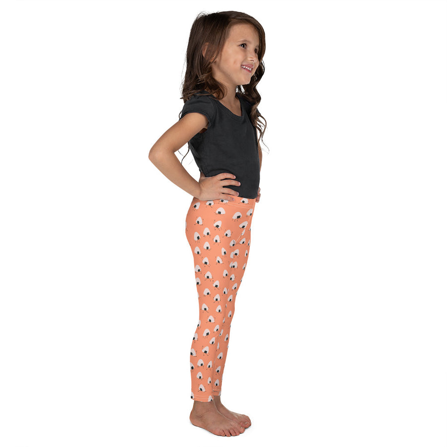 Kids Onigiri Boy Leggings in Fuzzy Peach