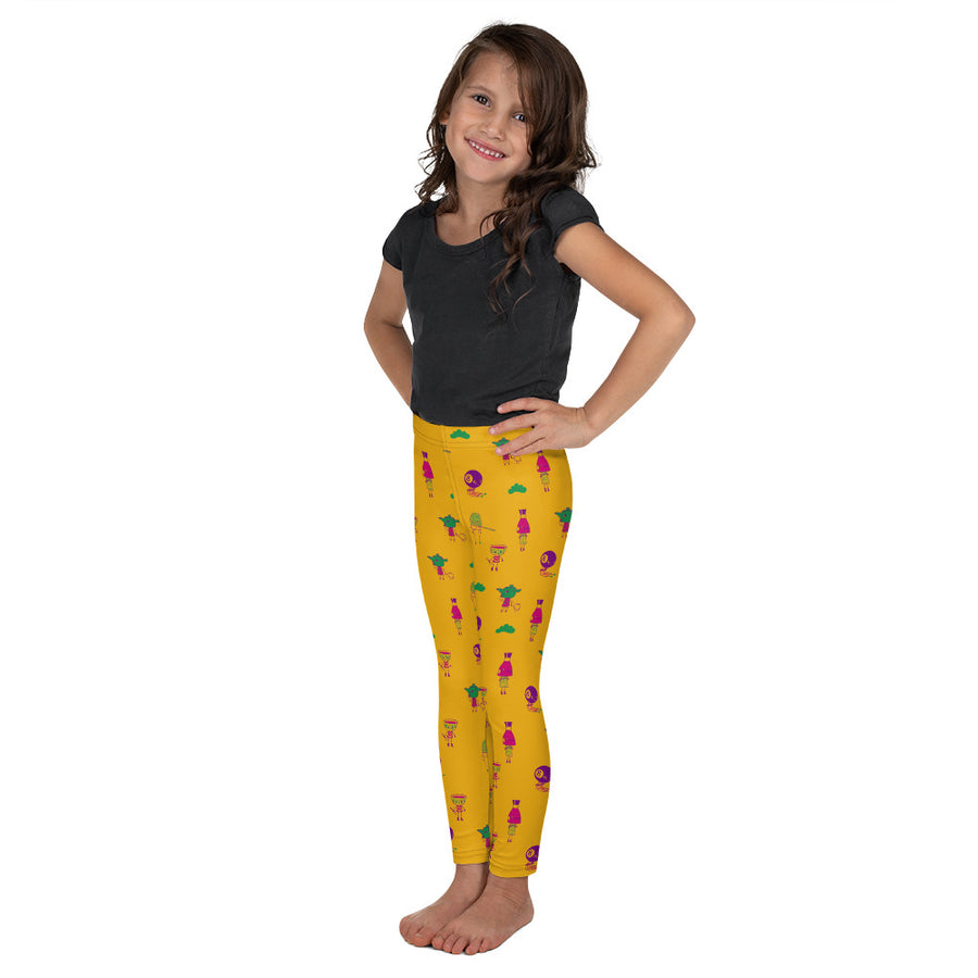 KIDS TSUKUMOGAMI LEGGINGS IN VIOLET RAY