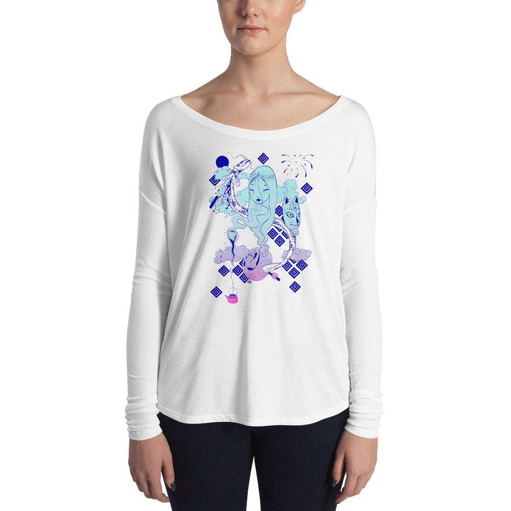 Midnight Kumi Womens' Long Sleeve T-Shirt in Neon