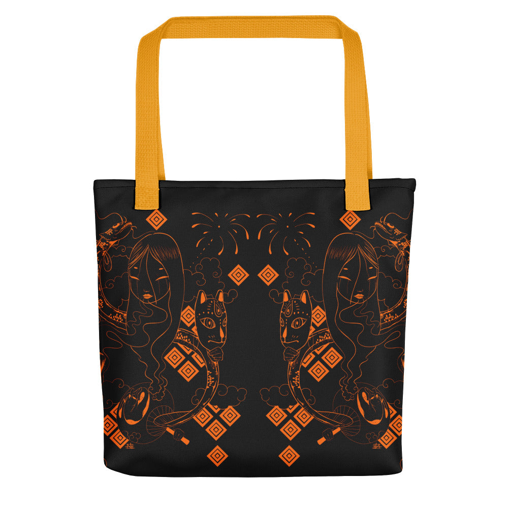 Midnight Kumi Tote bag in Faire Fire