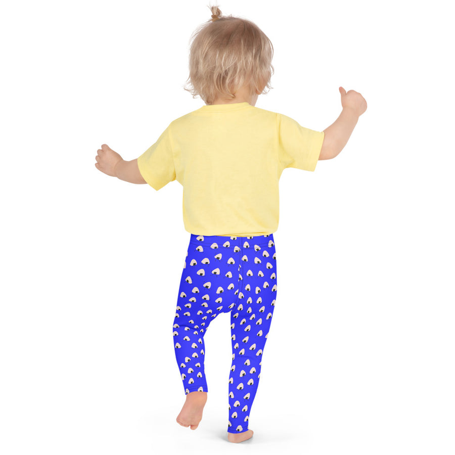 Kids Onigiri Boy Leggings in Electric Blue