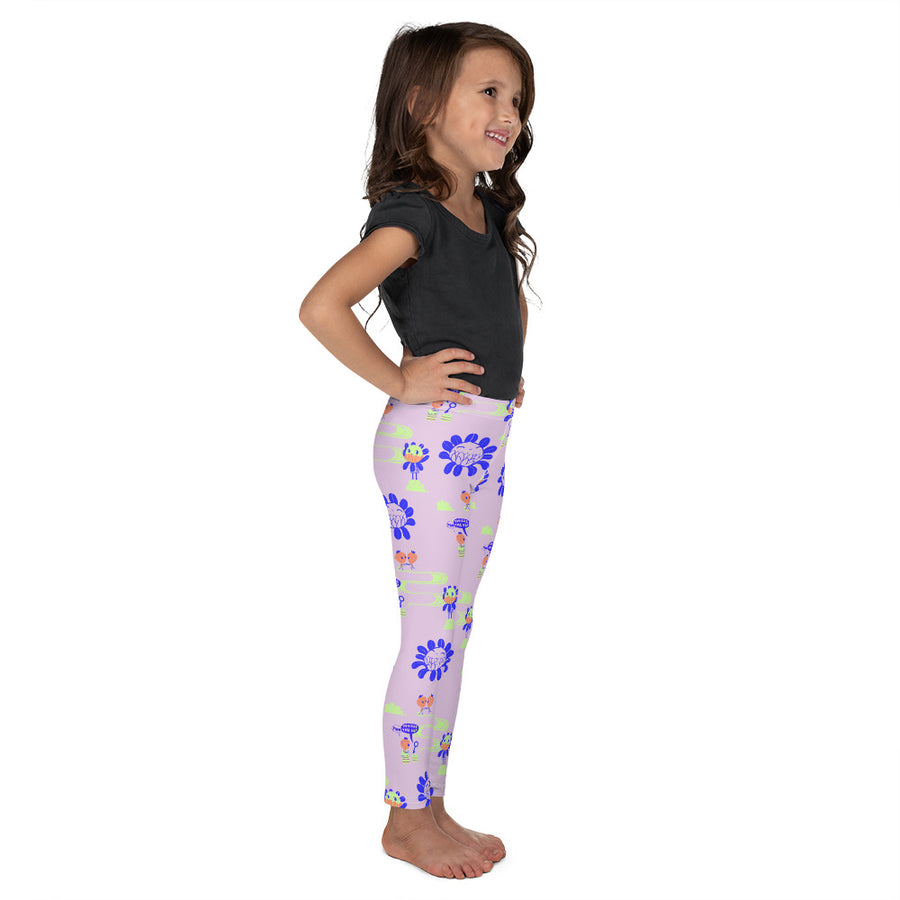Kids Emma Leggings in Peach Parade