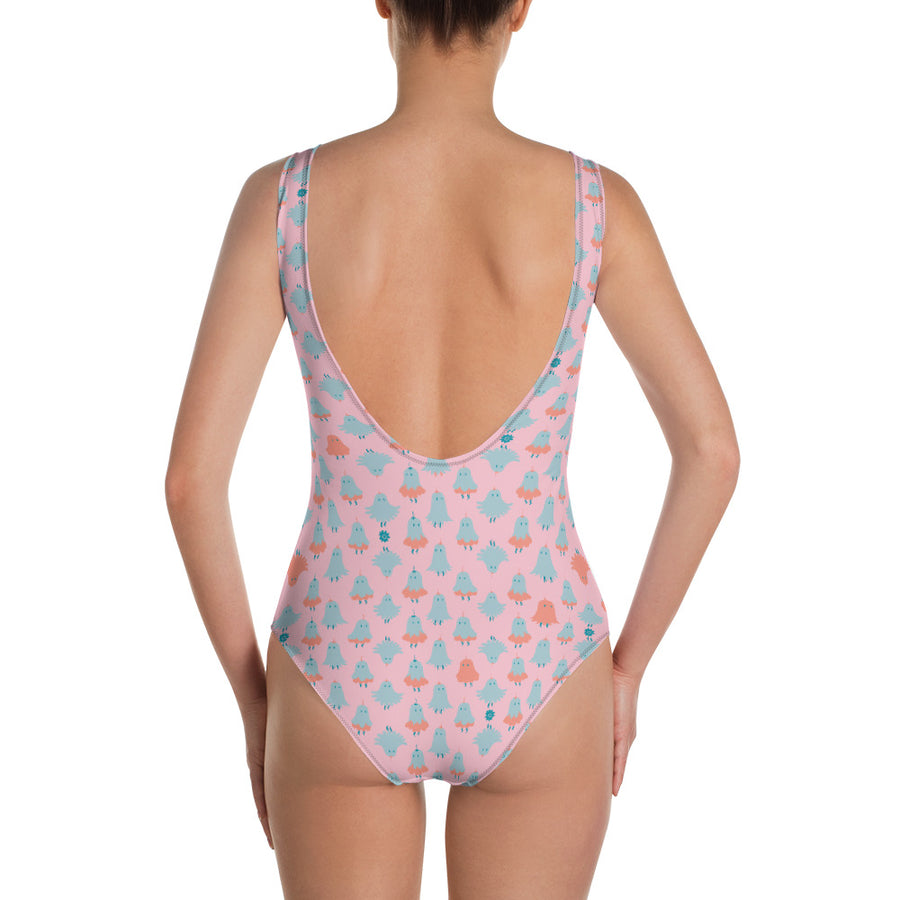 One-Piece Swimsuit in Peony Sparkle