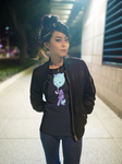 Bake Neko Womens' T-Shirt in Neon Dream