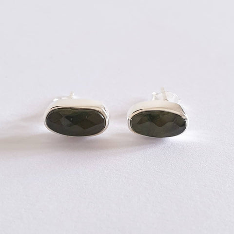Buwit Earrings Bali Silver 925 Moldavite Stone