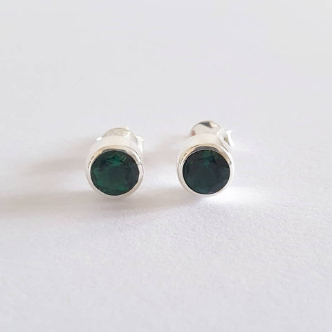 Kenken Earrings Bali Silver 925 Green Quartz Stone
